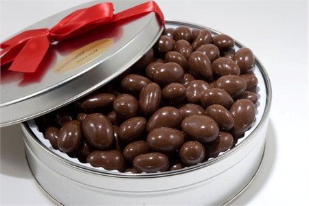 Milk Chocolate Covered Almonds Gift Tin