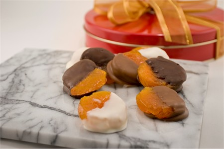 Assorted Chocolate Dipped Apricots