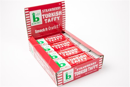 Bonomo Strawberry Turkish Taffy (24 Pack)