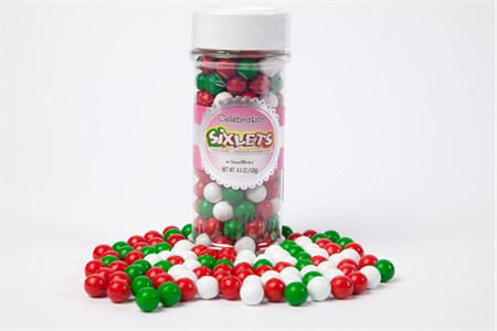 Chistmas Mix Sixlets (4.5oz Jar)