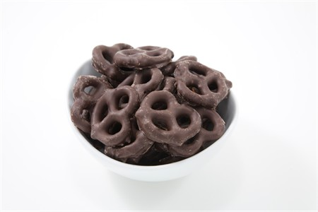 Dark Chocolate Pretzels (10 Pound Case)