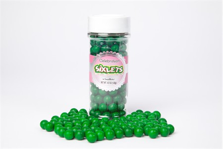 Dark Green Sixlets (4.5oz Jar)