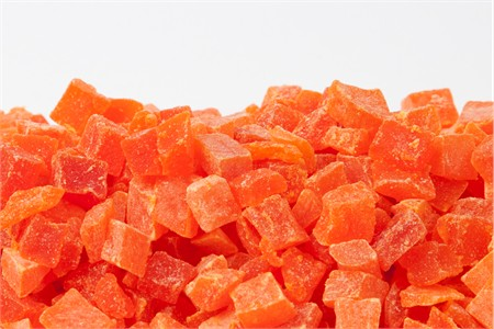 Dried Papaya - Diced (11 Pound Case)