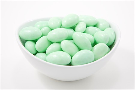 Green Jordan Almonds (10 Pound Case)