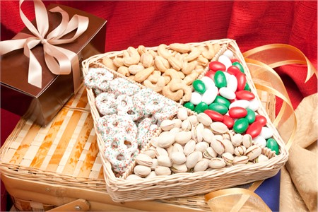 Holiday Wishes Supreme Nut Gift Basket