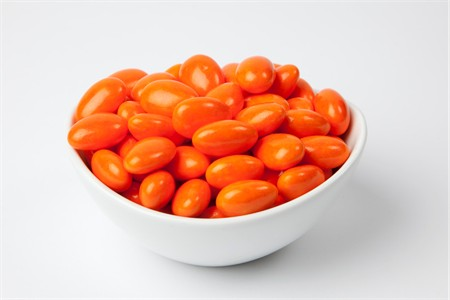 Bright Orange Jordan Almonds (25 Pound Case)