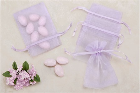 Lavender Sheer Organza Party favor Bags