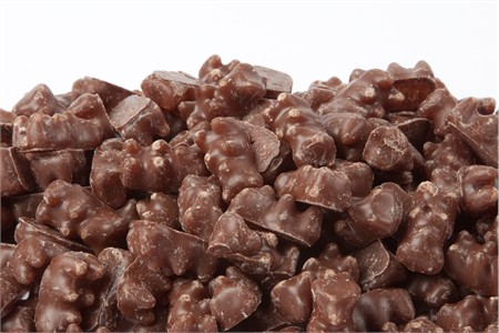 Milk Chocolate Covered Gummy Bears (25 Pound Case)