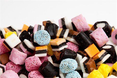 Mini Licorice Allsorts Candy (25 Pound Case)