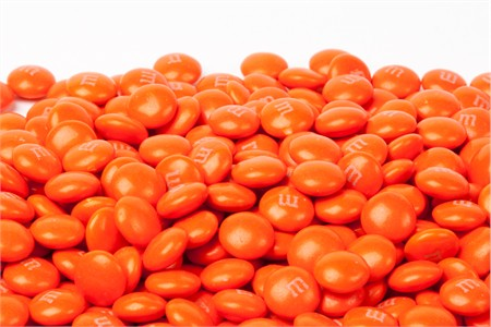Orange Milk Chocolate M&M's Candy (10 Pound Case)