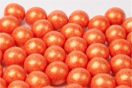 Pearl Orange Gumballs (28 Pound Case)