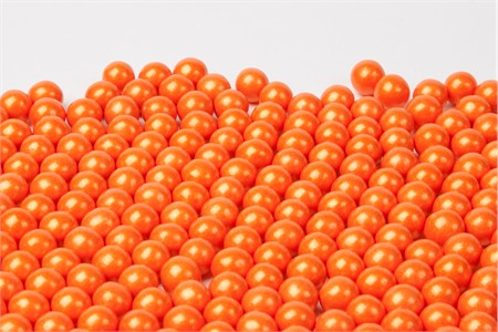 Pearl Orange Sixlets (25 Pound Case)