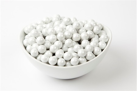 Pearl White Sixlets (25 Pound Case)