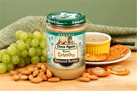 Raw Crunchy Organic Almond Butter (1 Pound Jar)