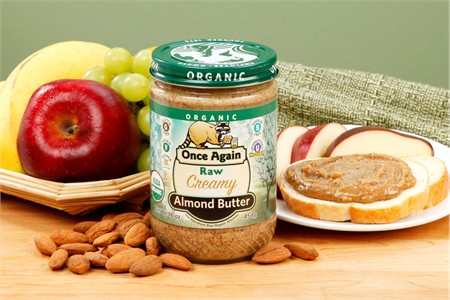 Raw Smooth Organic Almond Butter (1 Pound Jar)