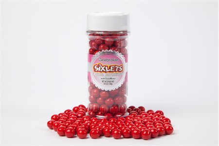 Red Sixlets (4.5oz Jar)