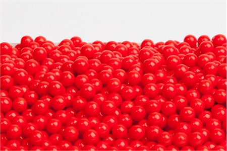 Red Sugar Candy Beads (25 Pound Case)