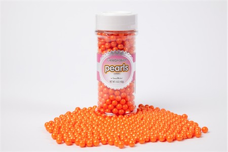 Shimmer Orange Pearls (5oz Jar)