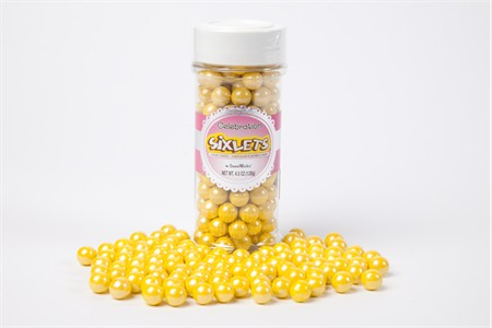 Shimmer Yellow Sixlets (4.5oz Jar)