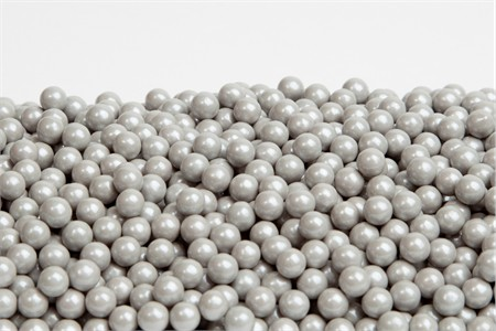Silver Sugar Candy Beads (25 Pound Case)