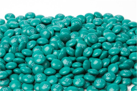 Teal Green Milk Chocolate M&M's Candy (1 Pound Bag)