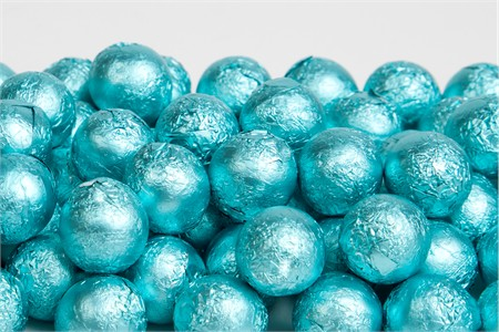 Tiffany Blue Foiled Milk Chocolate Balls (1 Pound Bag)
