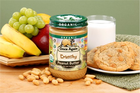 Unsalted Crunchy Organic Peanut Butter (1 Pound Jar)