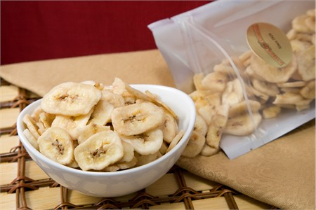 Unsweetened Banana Chips (3 Pound Bag)