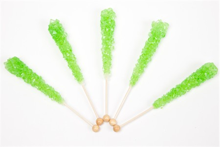Watermelon Wrapped Rock Candy Sticks (120 Pieces)