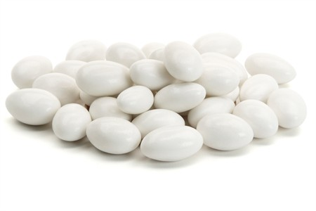 White Jordan Almonds (25 Pound Bag)