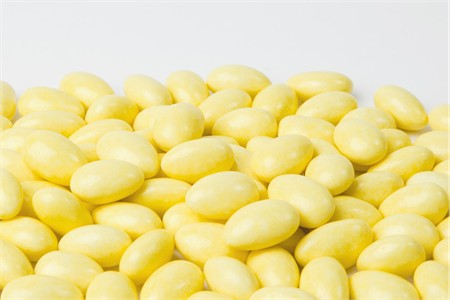 Yellow Jordan Almonds (1 Pound Bag)